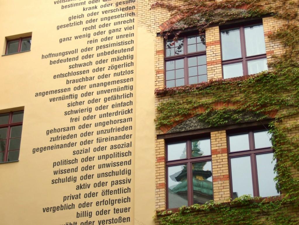 Wandinschrift Sopienstraße